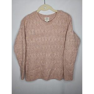 St. Johns Bay Pastel Chunky Cable Knit Sweater